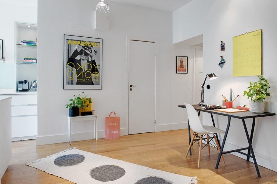 Scandinavian style interior design - workplace