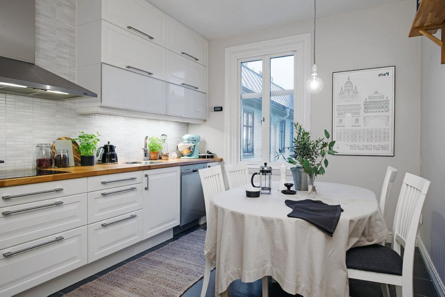 Scandinavian Style Kitchen Design Do Not Also Forget About Bright Details