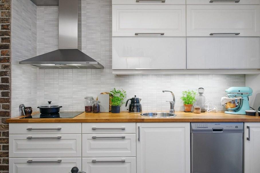 Scandinavian-style kitchen design - furniture of plain rigorous form