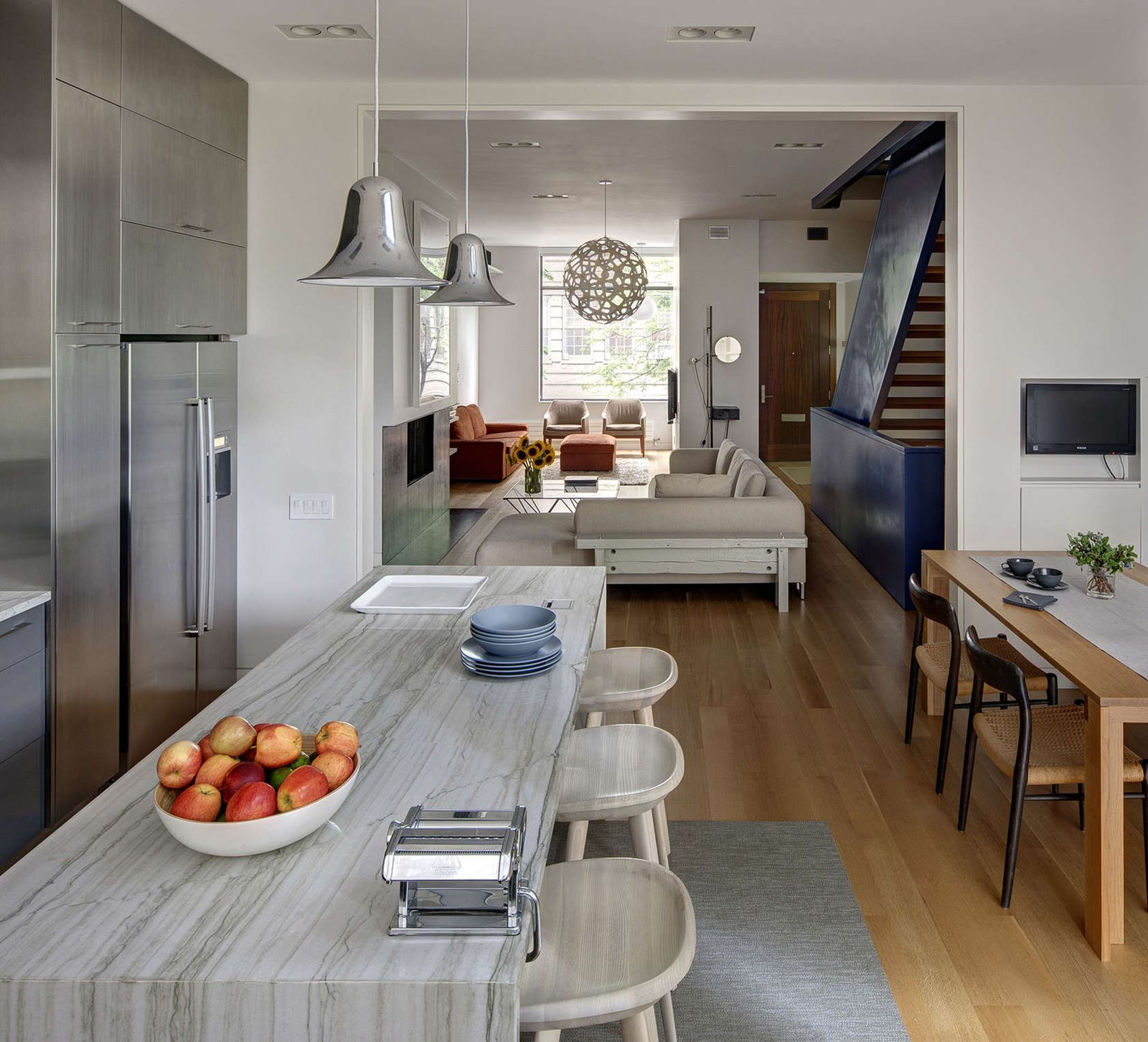 stylish townhouse interior in new york