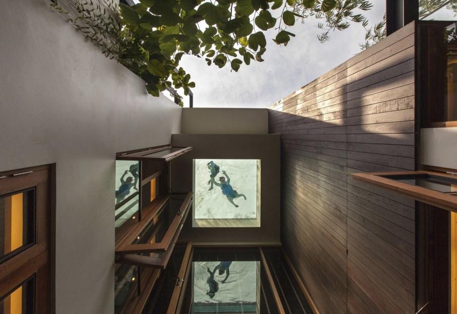 Tan's Garden Villa in Singapore - transparent-floored swimming pool