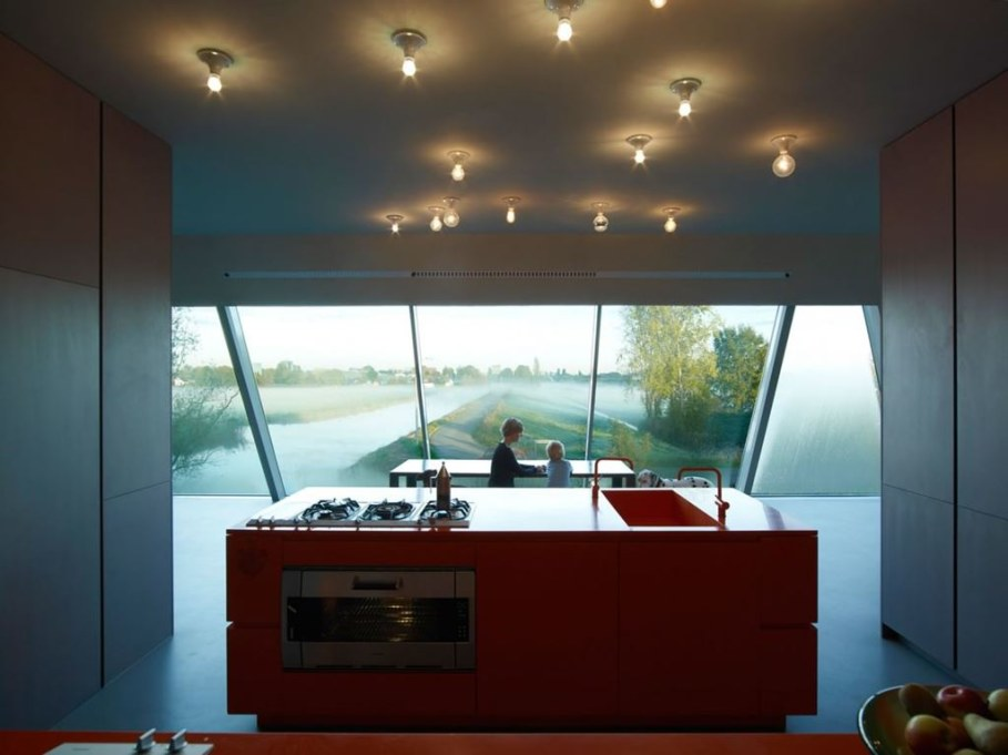 The House Of Unusual Shape From VMX Architects - Kitchen island