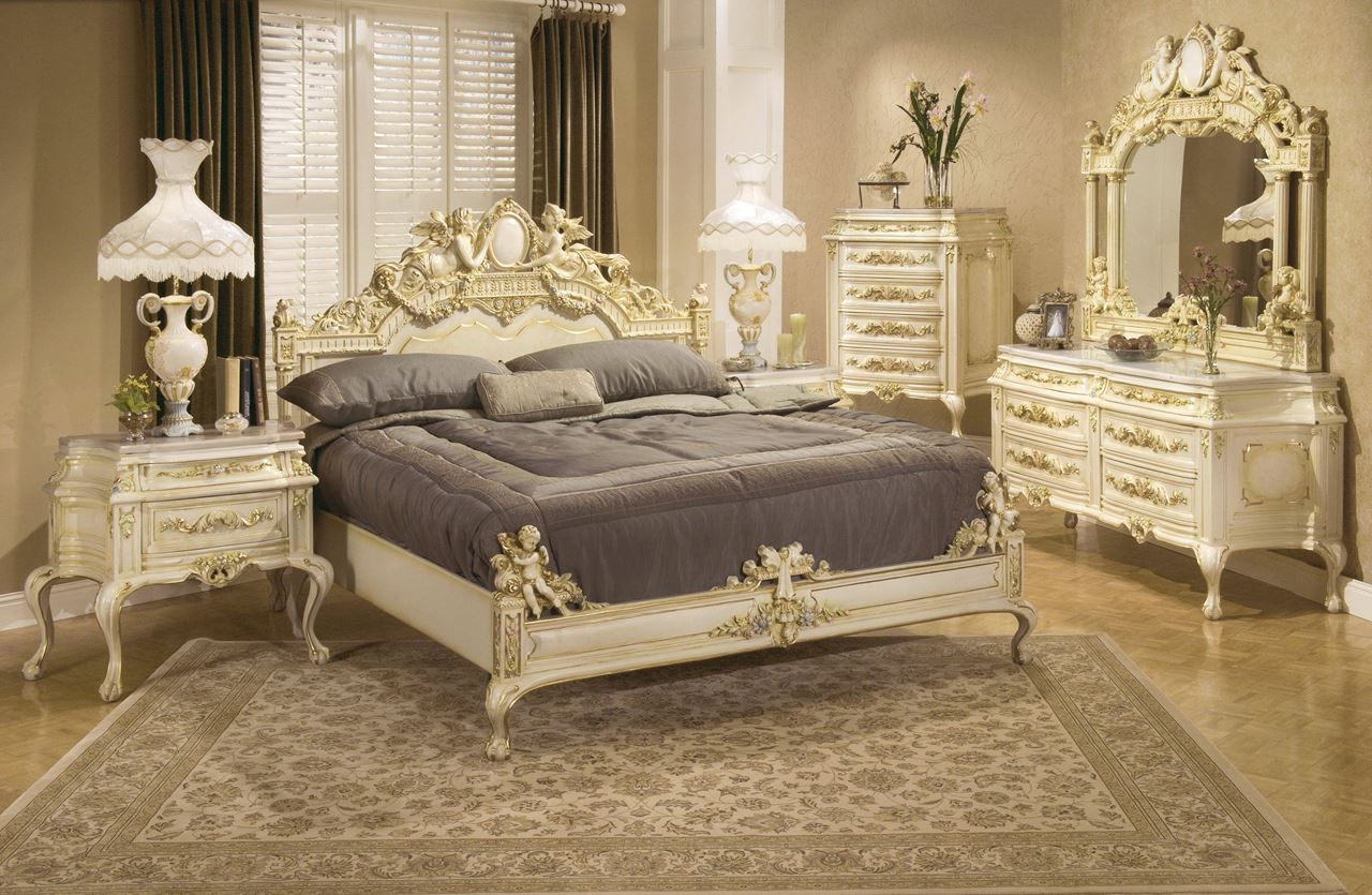 Rococo style interior design ideas for Bed styles images