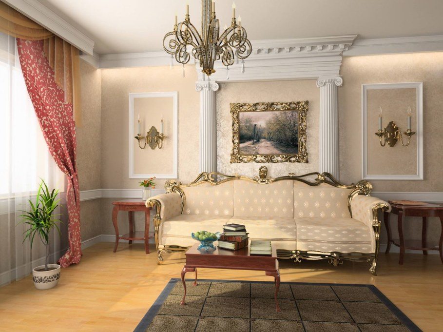 The Rococo Style - Living room design ideas