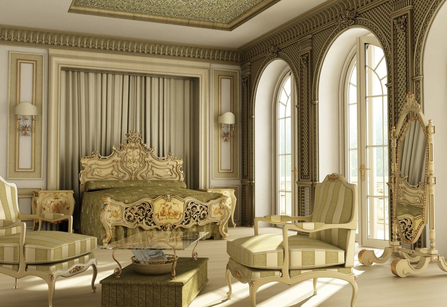 The Rococo Style - Luxury Bedroom