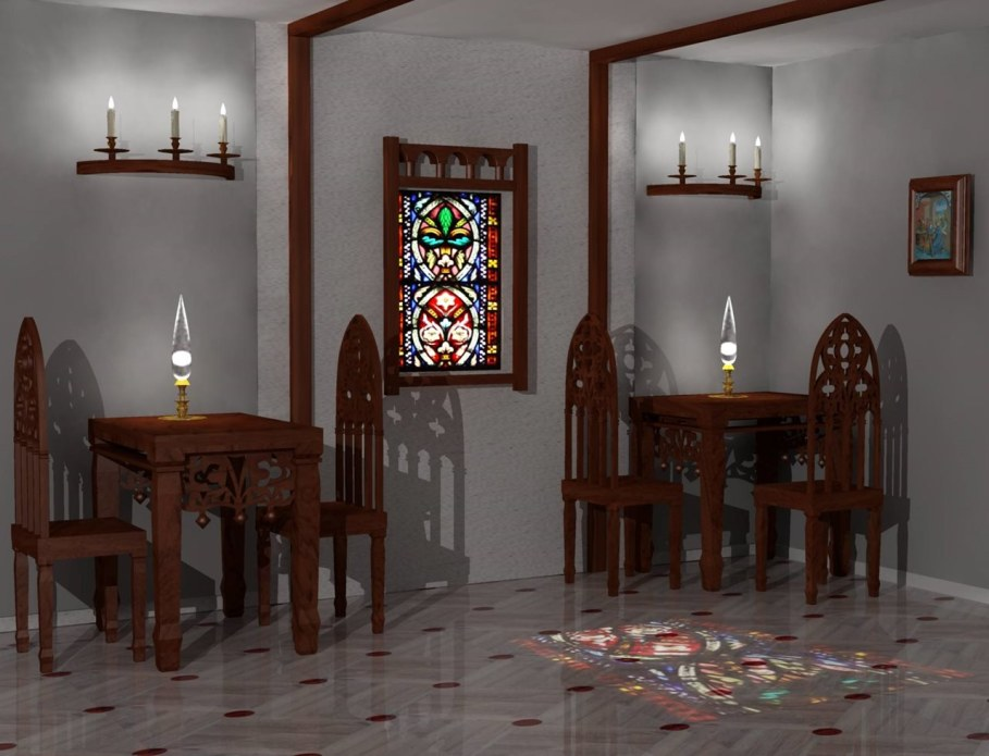 The Romanesque Style - furniture