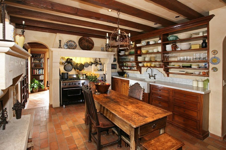 The kitchen in the country style - design examples