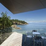 Modern House on the Ocean`s shore in Canada
