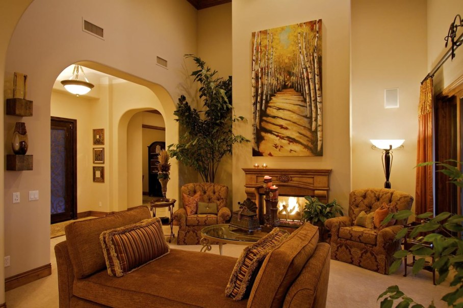 Tuscan living room design ideas