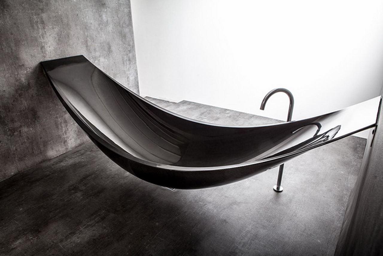 Bathtub vessel by splinter works for Splinter works hammock bathtub