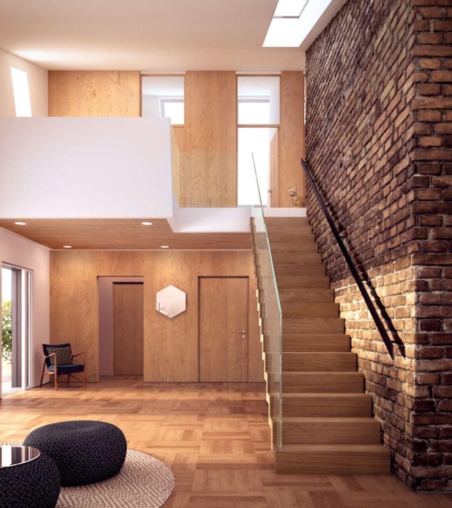 ZEB Pilot House - Hall and staircase