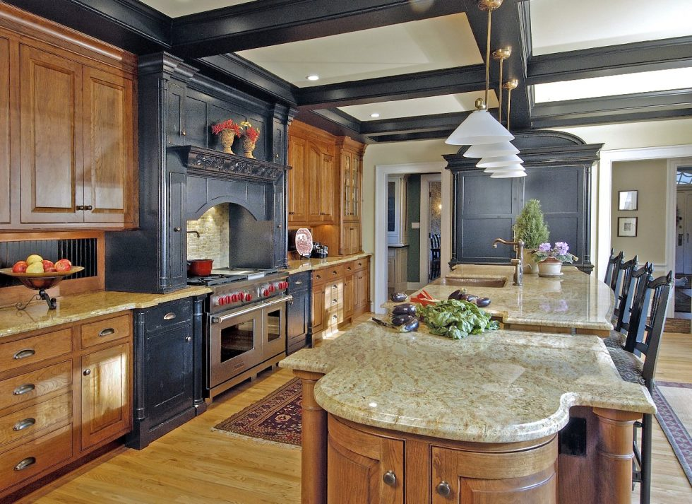 apartments-design-kitchen-island-marble-light-and-dark-wood