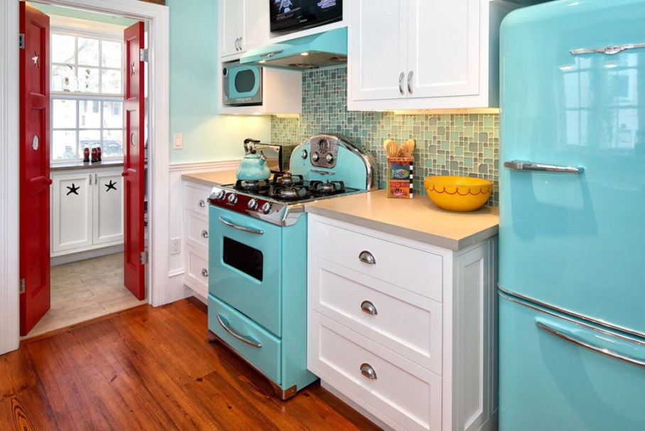 kitchen in a retro style