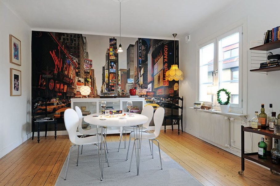 Apartment With Light And Colourful Interior - Full-wall paintings