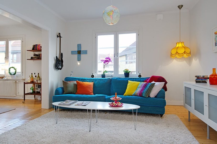 Apartment With Light And Colourful Interior - Furniture