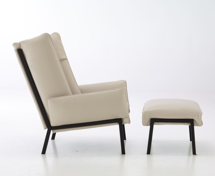 Beau Fixe - chair and pouffe