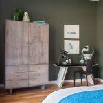 Livingroomandbedroomdesigninretrostyleofatwo roomapartment