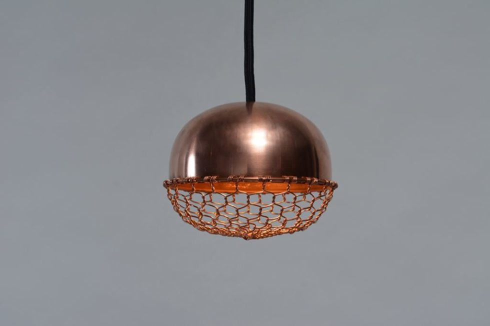 Copper lamps in the acorn form 4
