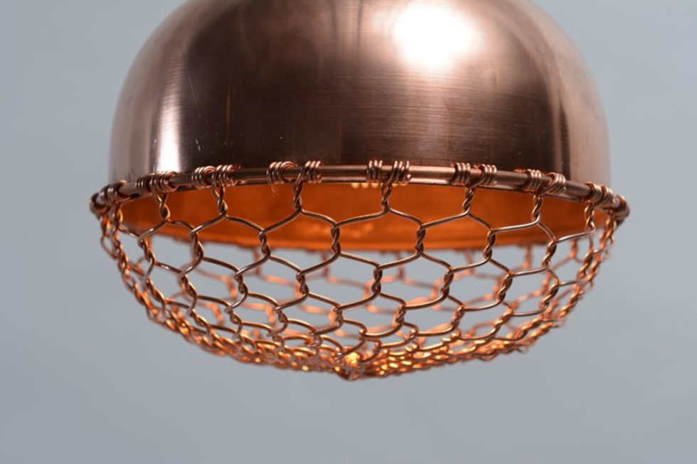 Copper lamps in the acorn form 5