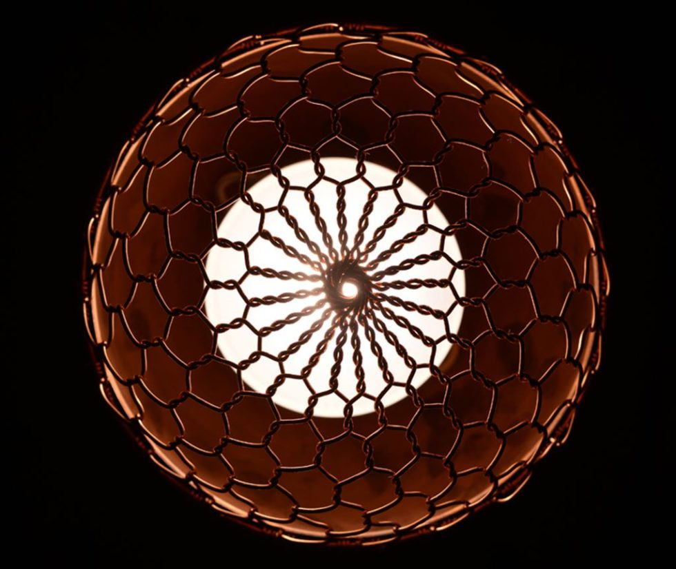 Copper lamps in the acorn form 7