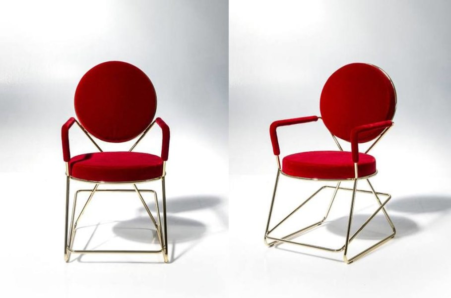 Double-Zero stool - Red