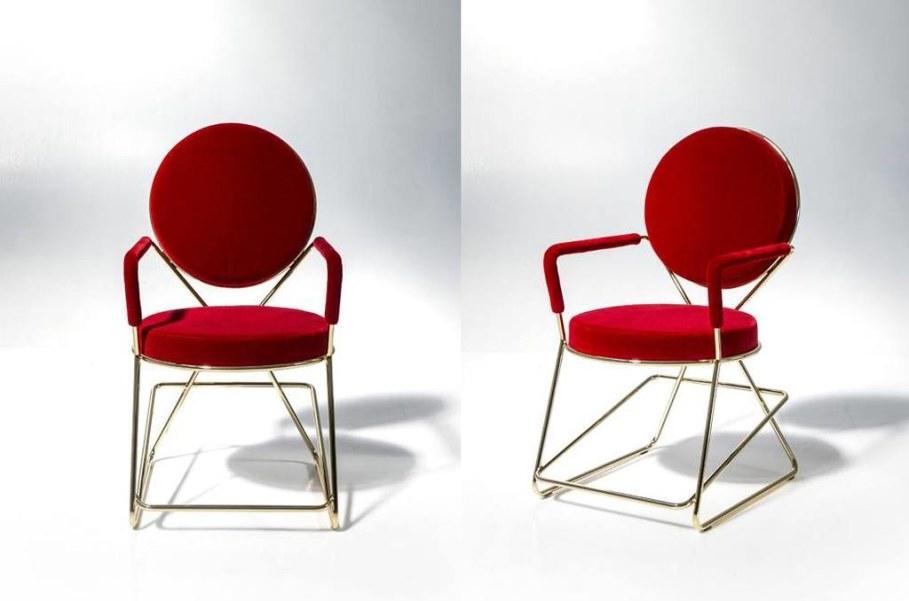Double-Zero stool - Red