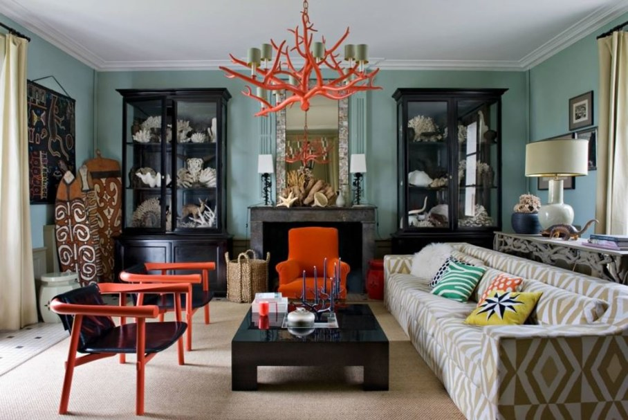 Eclectic house - living room
