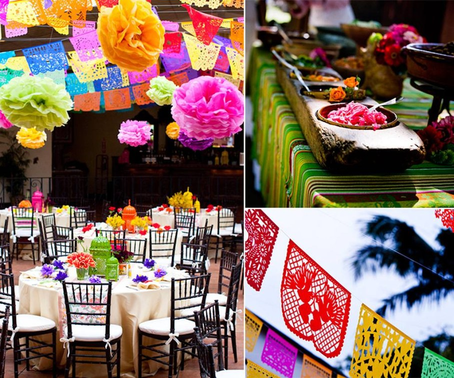 Fiesta table decorations