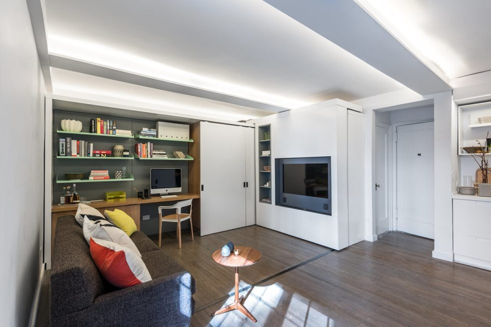 Five to One Apartment - Living room and Workplace