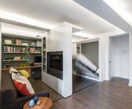 The sliding wall is a good way to expend the space of a small apartment