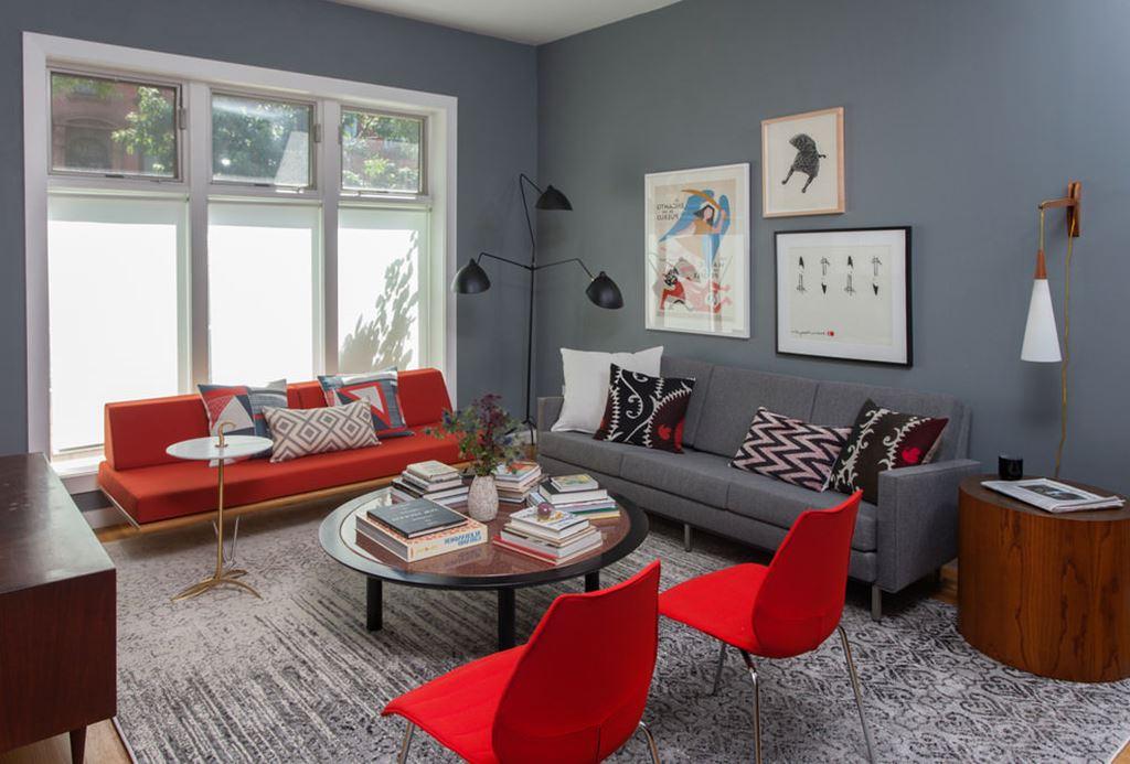 Livingroomandbedroomdesigninretrostyleofatwo Roomapartment.  Livingroomandbedroomdesigninretrostyleofatwo Roomapartment