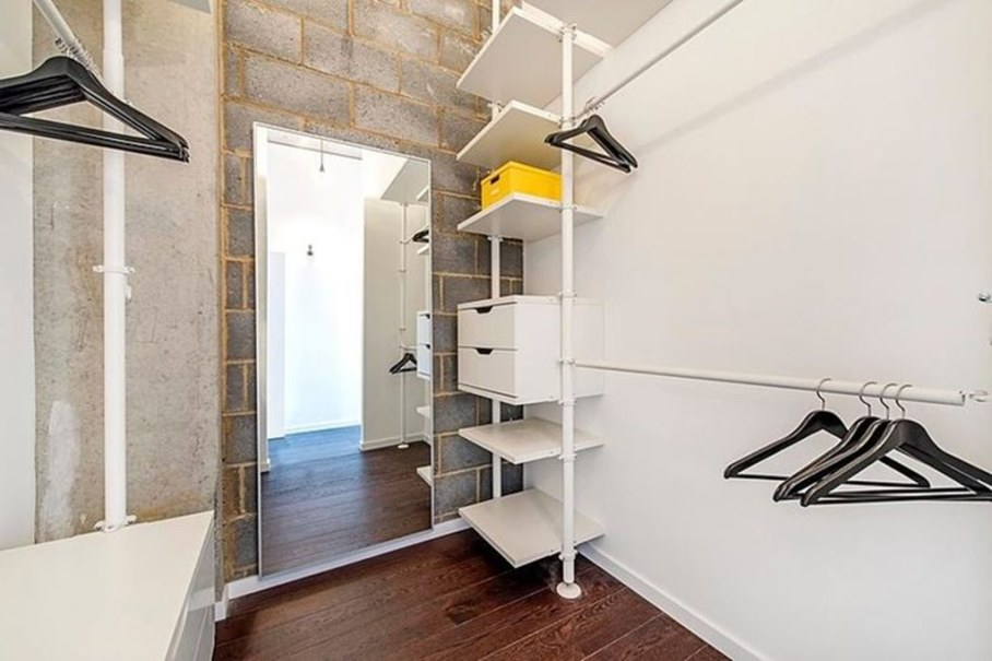 Industrial style London apartment - convenient storage room