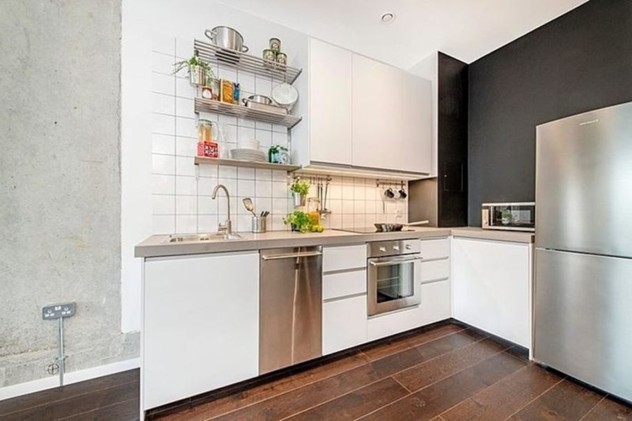 Industrial style London apartment - kitchen furniture