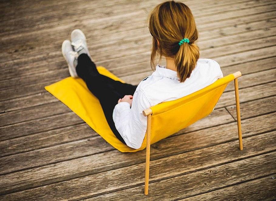 Leano seat by nik lorbeg - Yellow