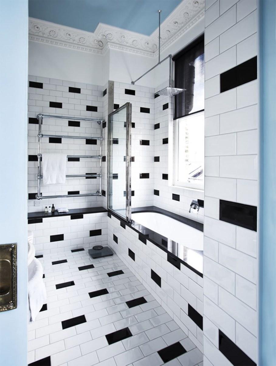 Mediterranean Interior of London Apartment - Bathroom