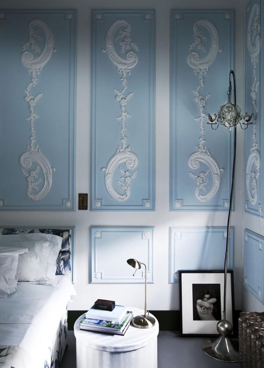 Mediterranean Interior of London Apartment - Bedroom