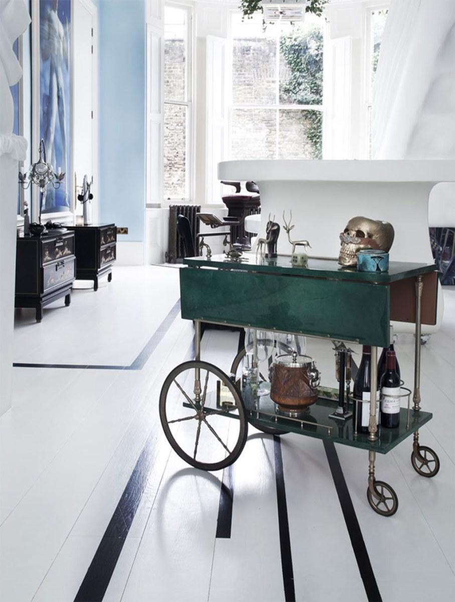 Mediterranean Interior of London Apartment - Furniture