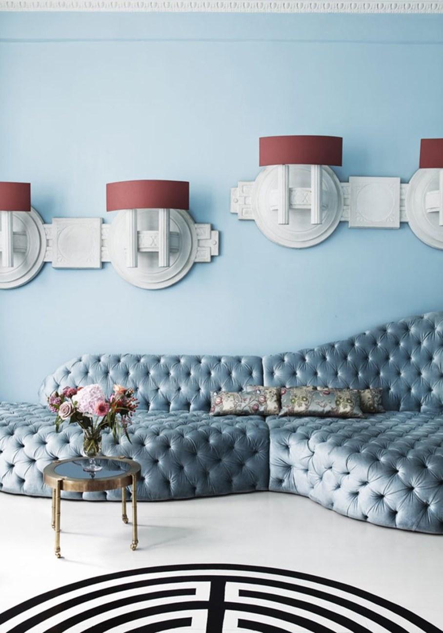 Mediterranean Interior of London Apartment - Living room