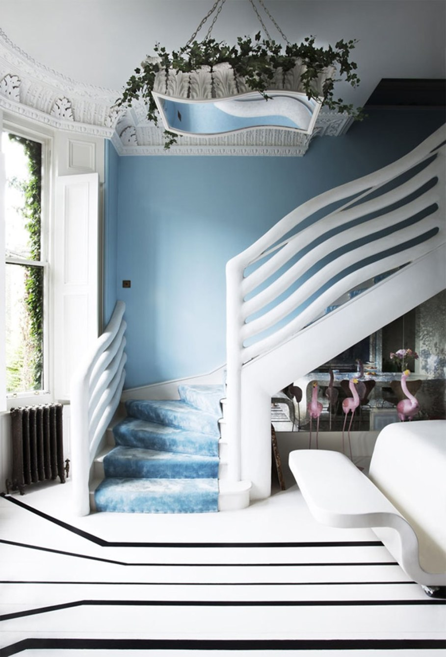 Mediterranean Interior of London Apartment - Staircase
