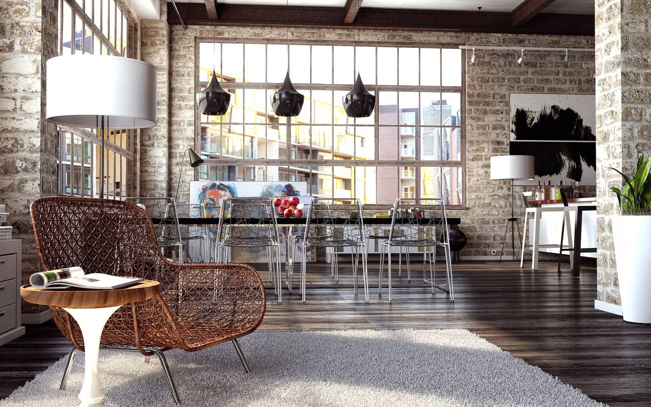 Modern Loft Stil ~ How to create a modern interior in loft style