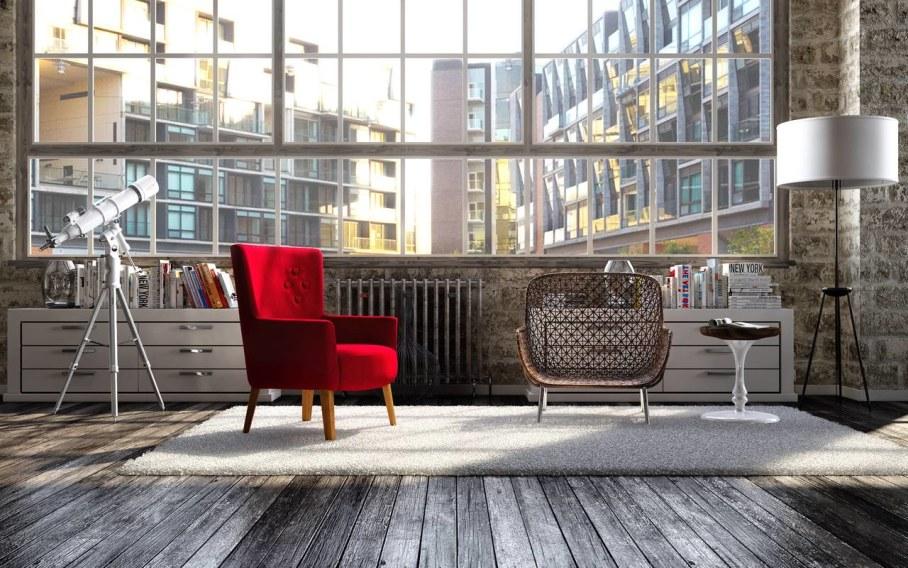 Modern interior in loft style - Furniture
