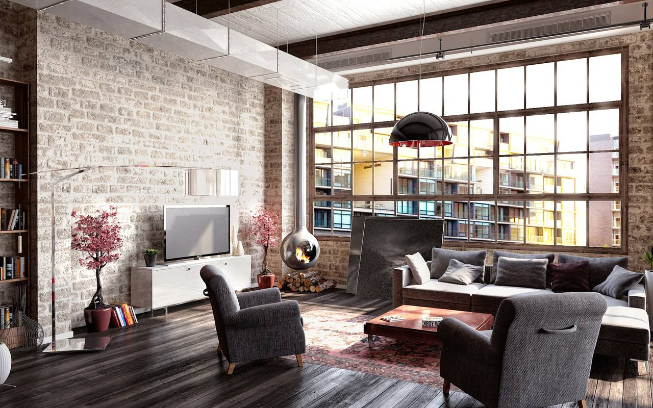 How to create a modern interior in loft style for New york style interior