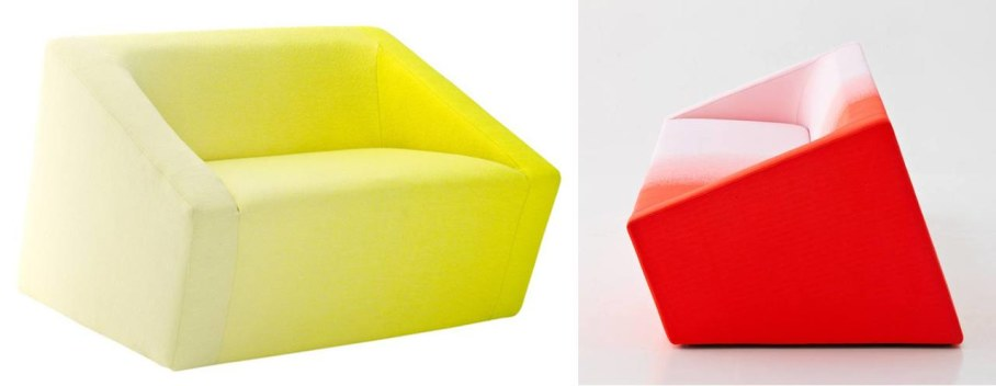 The arm-chair from Blur collection, designer Marc Thorpe, Moroso, 2013