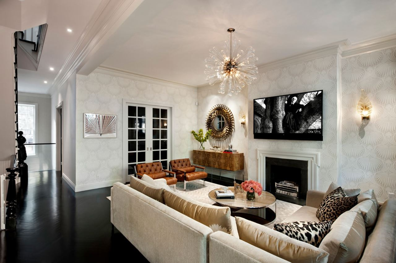 Eclecticism in interior design new york townhouse in a for Room design new york