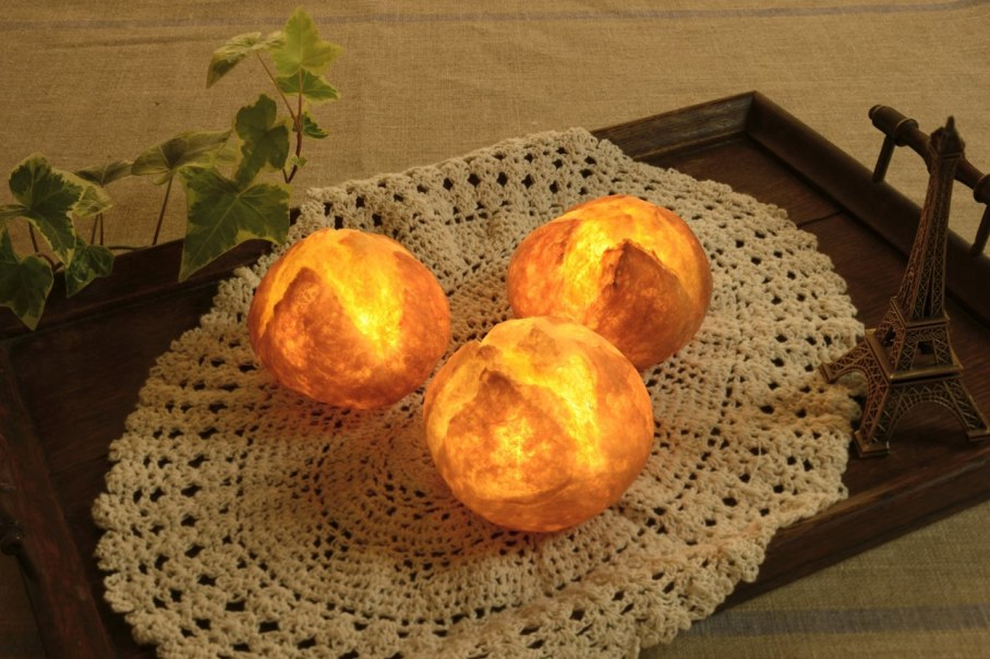 Pampshade from Yukiko Morita - Pampshade lamps, reminding fresh bakery products