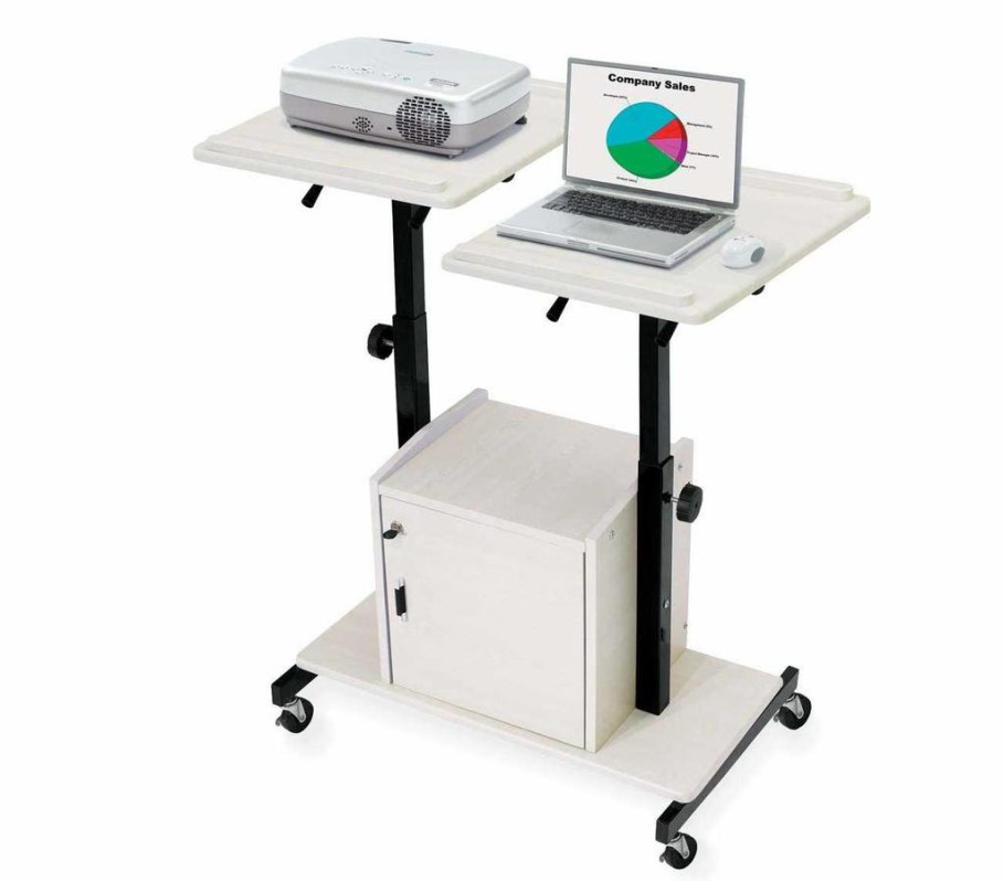 Portable computer workstation cart
