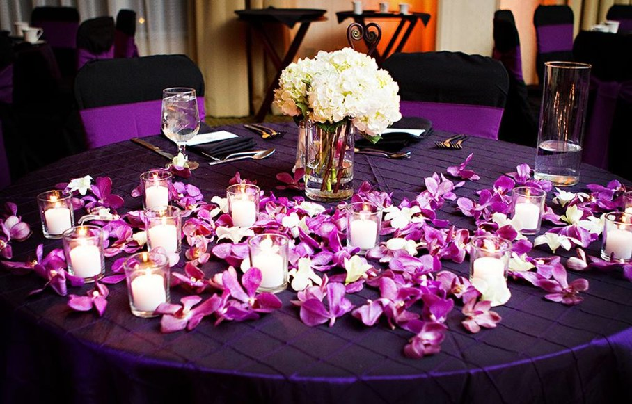 Flowers purple wedding decorations