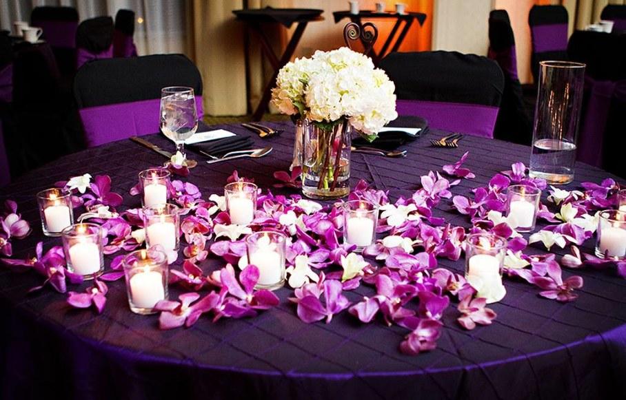 Flowers Purple Wedding Decorations