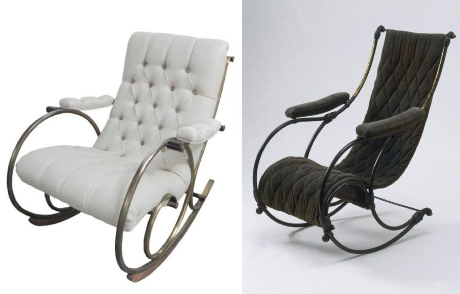 Rocking-Chair with Metallic Elements