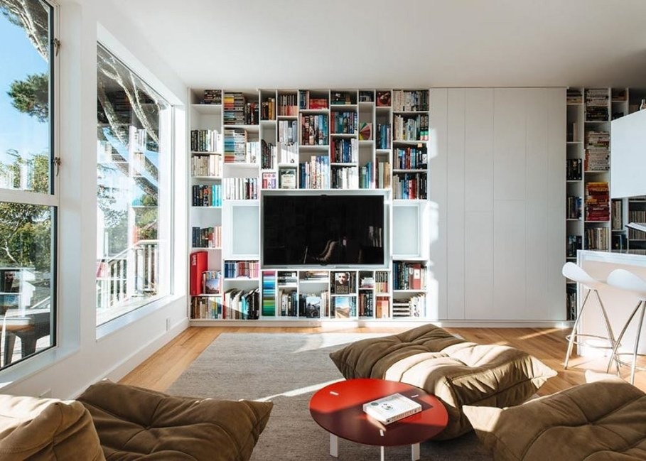 Sausalito residence - living room, a place to relax